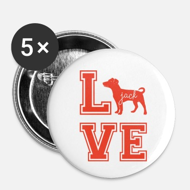 Jack Chien / Jack Russell: Love Jack - Badge petit 25 mm