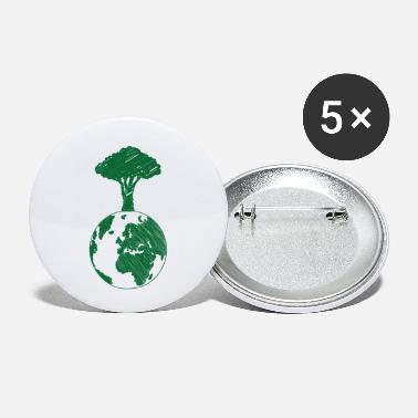 Earth Day Earth Day / Earth Day: Earth and Tree - Small Buttons