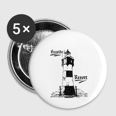 Seaside resort lighthouse coasts collection - Buttons small 25 mm