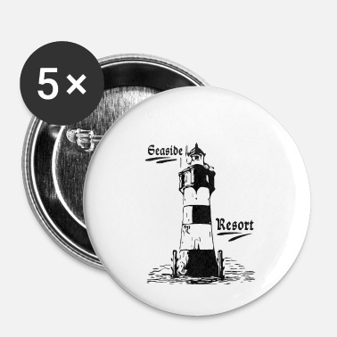 Seaside Seaside resort lighthouse coasts collection - Buttons small 1''/25 mm (5-pack)