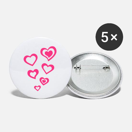 Heart Buttons - Heart Hearts Love - Small Buttons white