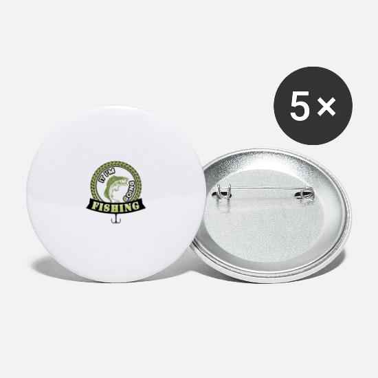 Gift Idea Buttons - fisherman - Small Buttons white