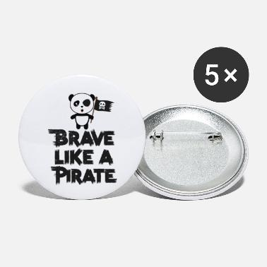 Wild Animal Parks Brave Panda Pirate Grunge Gift - Small Buttons