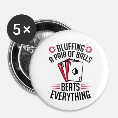 Bluff Bluffen Poker - Buttons klein 25 mm (5-pack)