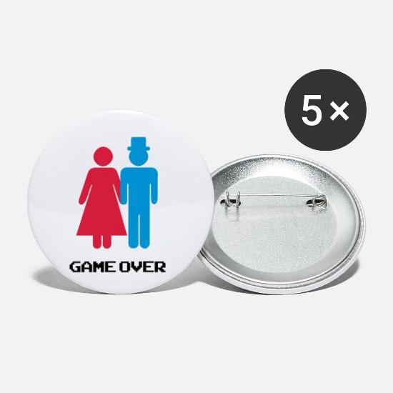 Bruidspaar Buttons - GAME OVER - Buttons klein wit