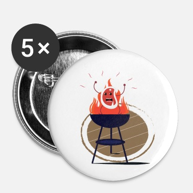 Barbecue Le steak maléfique dispute l'idée de cadeau de barbecue - Badge petit 25 mm