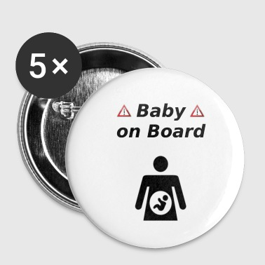 Baby On Board Baby an Board sw - Buttons klein 25 mm