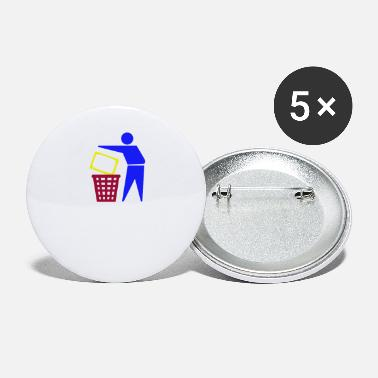Television TV Garbage Kill Television TV Gift - Buttons klein