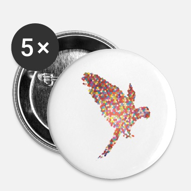 Art Graphique Perroquet Cadeau Idée Design Art graphique Exclusif - Badge petit 25 mm