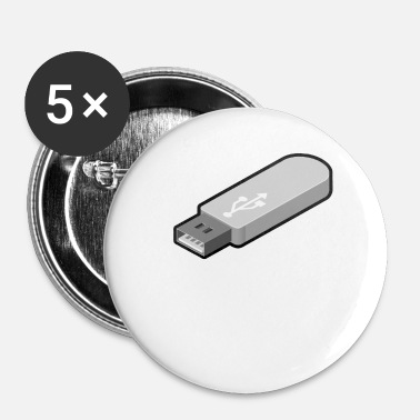 Life is too short to remove USB safely - Buttons small 1''/25 mm (5-pack)