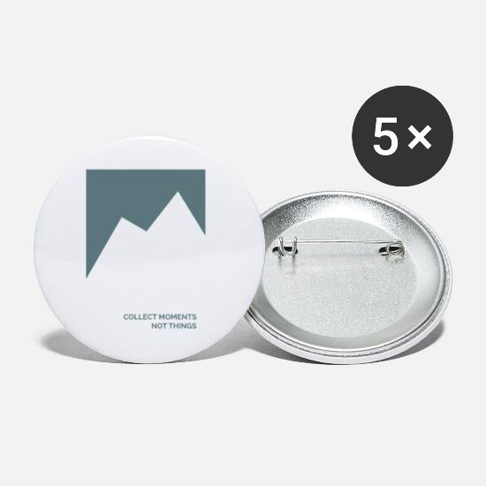 Typography Buttons - Collect moments - Small Buttons white