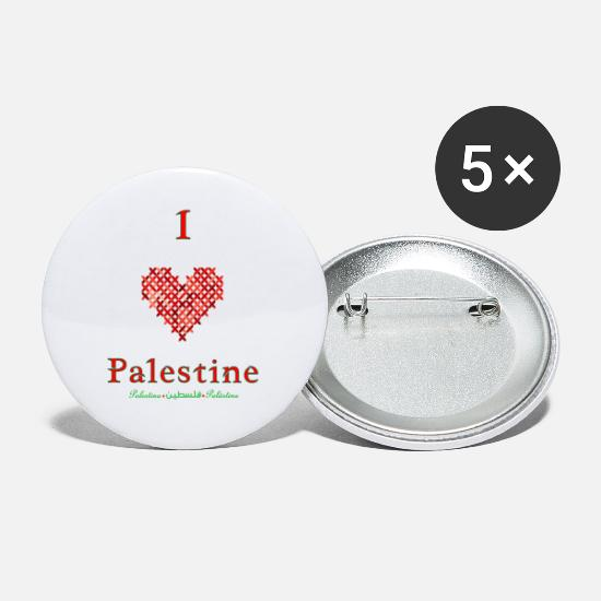 Love Buttons - I love Palestine - Small Buttons white