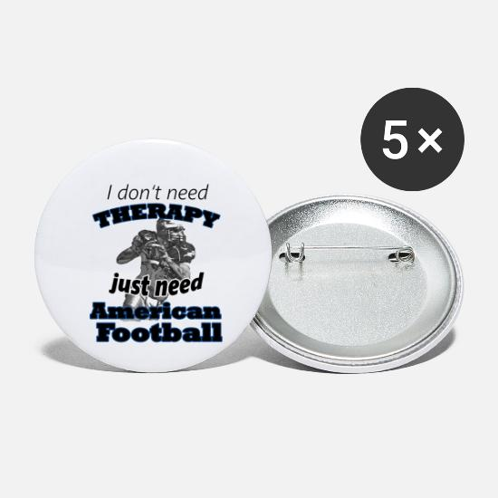American Football Buttons & Anstecker - American Football - Buttons klein Weiß