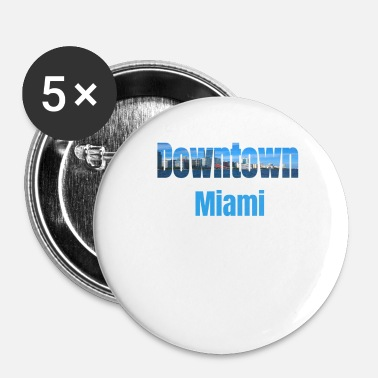 Tourist Downtown Miami, Verenigde Staten, Country Tourist Gifts - Buttons klein 25 mm (5-pack)