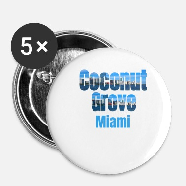 Tourist Coconut Grove Miami, Verenigde Staten, Country Tourist Gifts - Buttons klein 25 mm (5-pack)