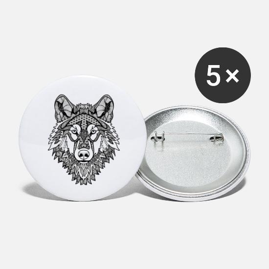 Mandala Wolf Buttons Klein Spreadshirt