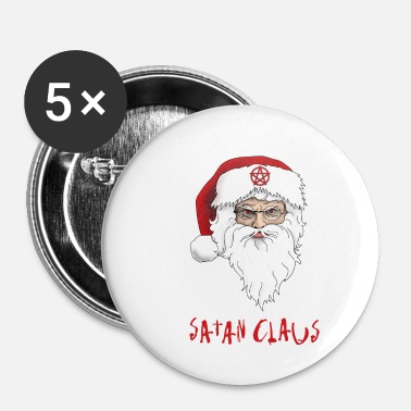 Chèvre Satan Claus Merry Antichristmas Pentacle Lucifer - Badge petit 25 mm