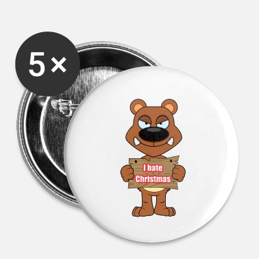 Fake Je déteste Noël Grumpy Bear - Badge petit 25 mm