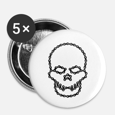 Kæde Skull Chain - Buttons/Badges lille, 25 mm