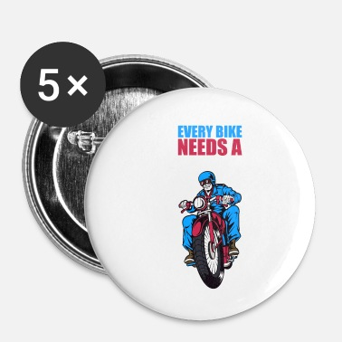 Pilota Idea regalo di Skull Biker Club Rider - Spilla piccola 25 mm
