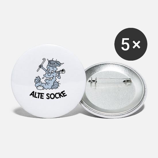 Gift Idea Buttons - Old sock - Small Buttons white