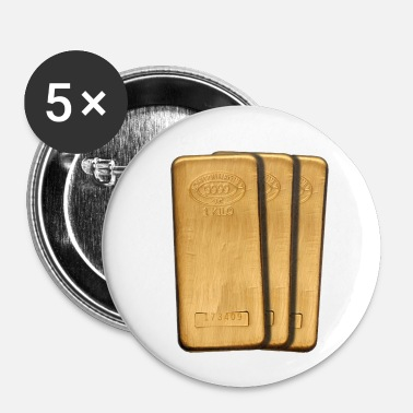 Guld guld - Buttons/Badges lille, 25 mm (5-pack)