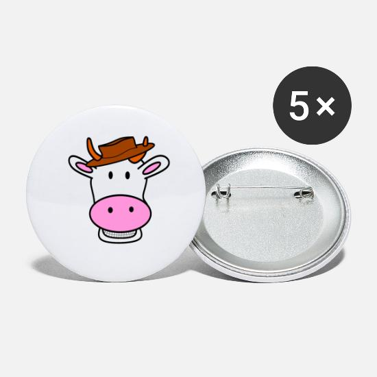 Cowbell Buttons - cowboy - Small Buttons white