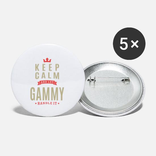 Granny Buttons - Keep Calm And Let Gammy - Small Buttons white