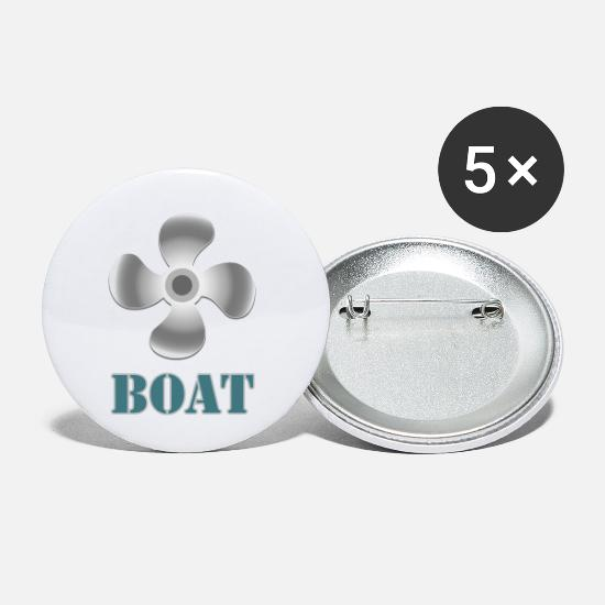 Love Buttons - boat - Small Buttons white