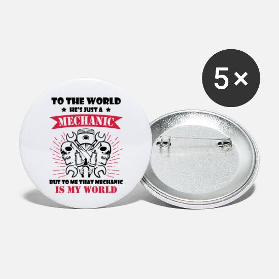Mechanic Buttons - Mechanic Is My World - Buttons klein wit