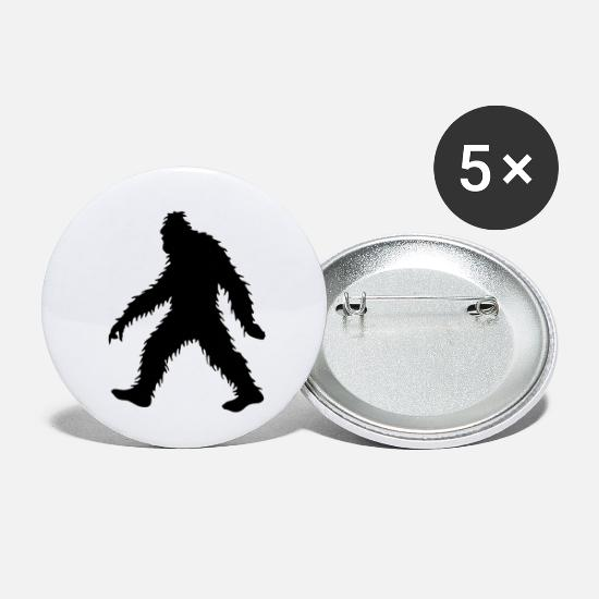 Forest Animal Buttons - Big Invisible Bigfoot, Sasquatch or Yeti - Small Buttons white