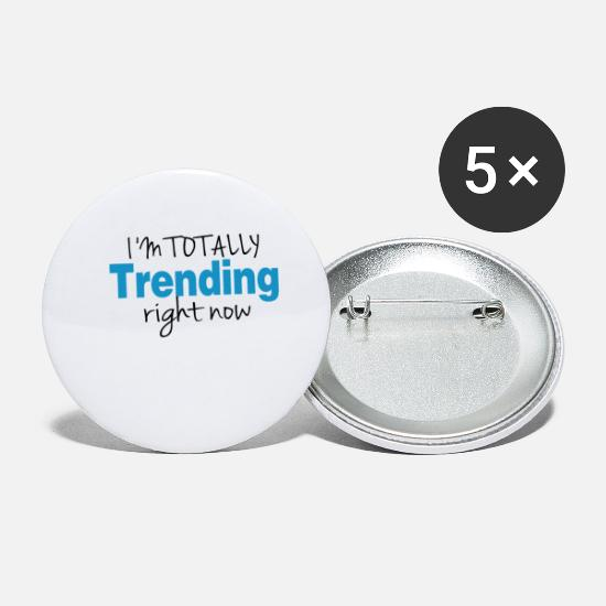 Birthday Buttons - totally trending - Small Buttons white