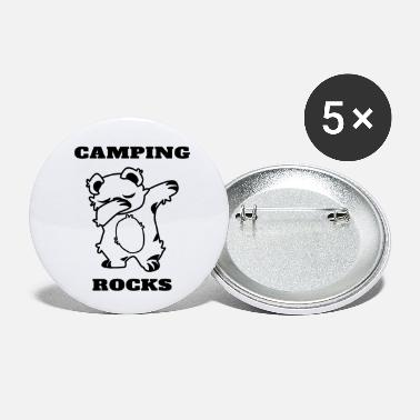 Funny Camping Lovers Camping Rocks Dabbing Bear Funny Camper Slogan - Small Buttons