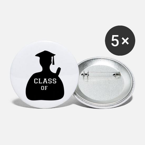 Vector Class Of Cool Funny Classic Graduation Design For Happy Graduation Clothes Buttons - ♥ټYay Finally Graduated-Vector Class of♥ټ - Small Buttons white