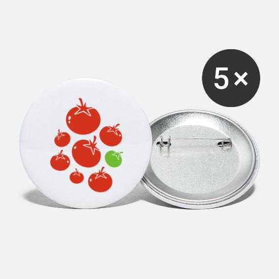 Italian Buttons - tomaten_2f - Small Buttons white