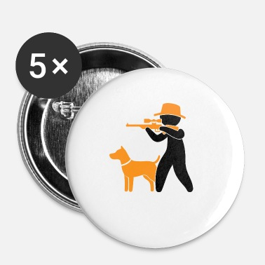 Killer Game A Hunter With Dog In The Forest - Buttons small 25 mm