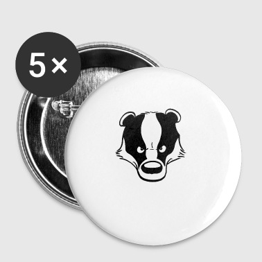Angry Badger - Buttons small 25 mm