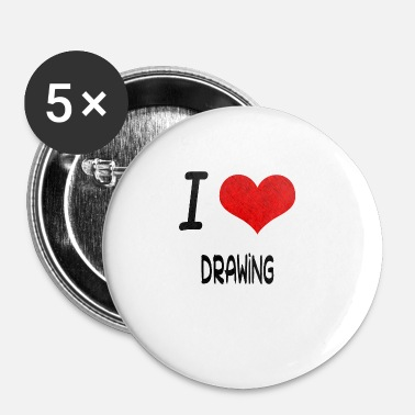 Bday J'aime Hobby ce dessin bday - Badge petit 25 mm