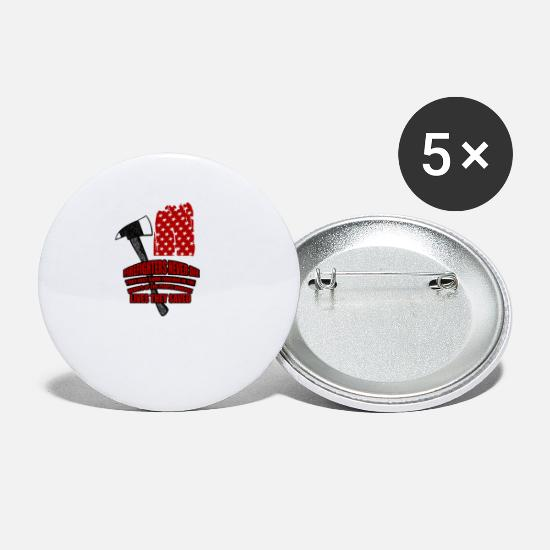 Usa Buttons - Firefighter firefighter USA gift - Small Buttons white