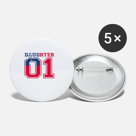 Love Buttons - Daughter daughter queen 01 Samoa - Small Buttons white