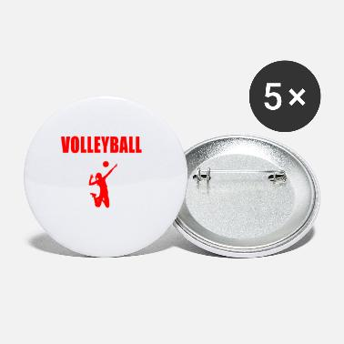 Volleyballer Volleyball was sonst - Buttons klein