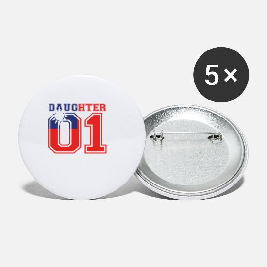 Love Buttons - Daughter daughter queen 01 Taiwan - Small Buttons white