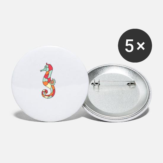 Horse Buttons - sea horse - Small Buttons white