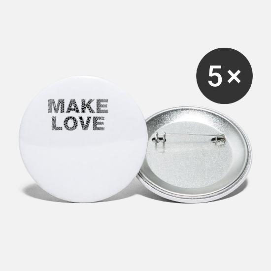 Love Buttons - peace - Make Love Not War - from the heart - Small Buttons white