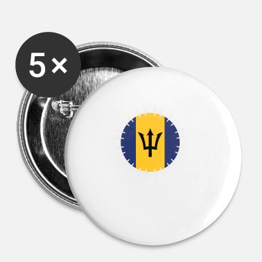 Barbados Love Heartbeat ECG Home Vacations Roots Barbados - Buttons small 25 mm