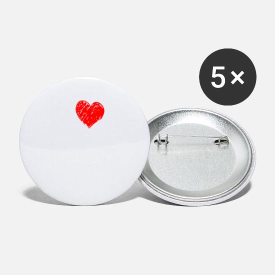 Love Buttons - I love Ireland - Small Buttons white