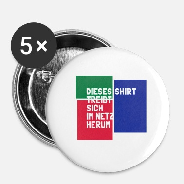 Net shirt i nettet - Buttons/Badges lille, 25 mm
