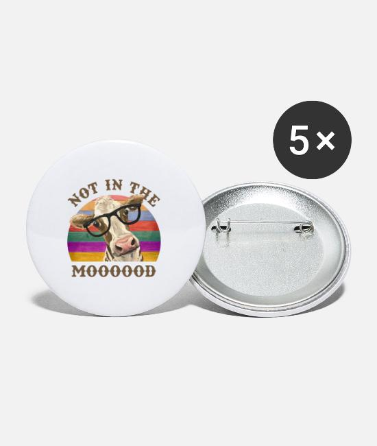 Cattle Herd Buttons - Not In The Mood - Small Buttons white