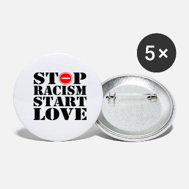 Verboten Stop Racism Start Love - Buttons klein