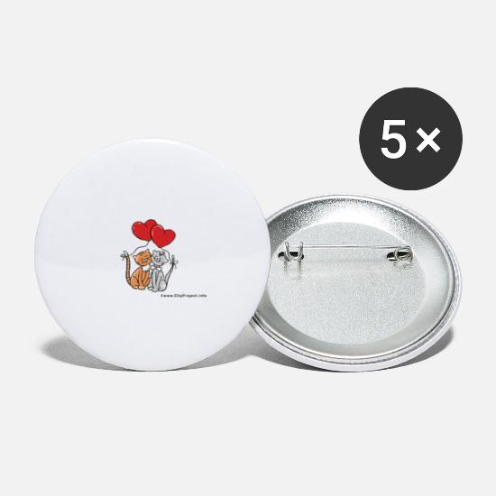 Love Buttons - Love, Valentine's Day, Valentine, Cupid, February 14th - Small Buttons white